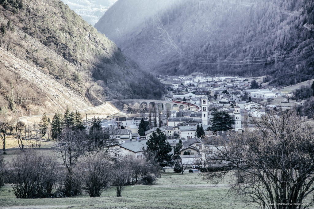 Przełęcze Bernina, Julier, Maloya.