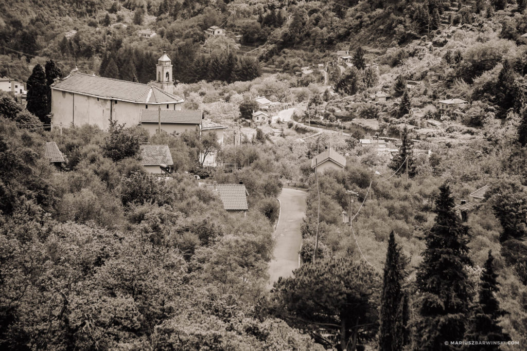 Odcinki specjalne Rajdu San Remo.
