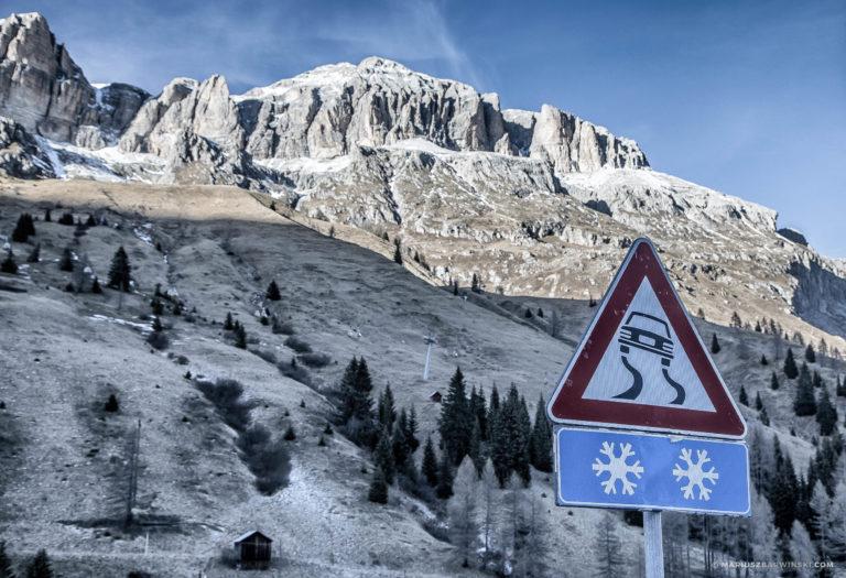 Sellaronda zza kierownicy – Dolomity.