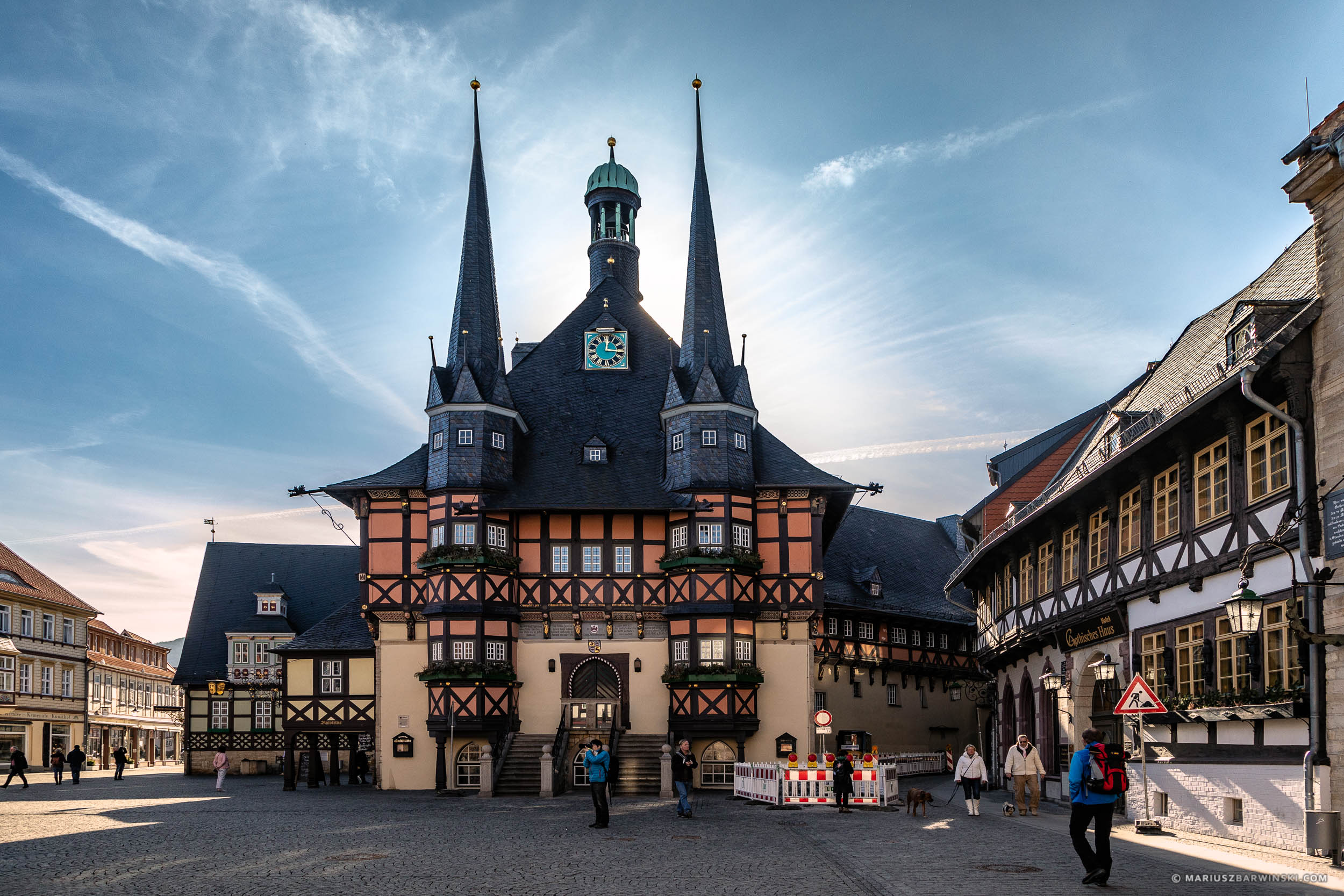 Town Hall in Wernigerode. Germany. Ratusz w Wernigerode.