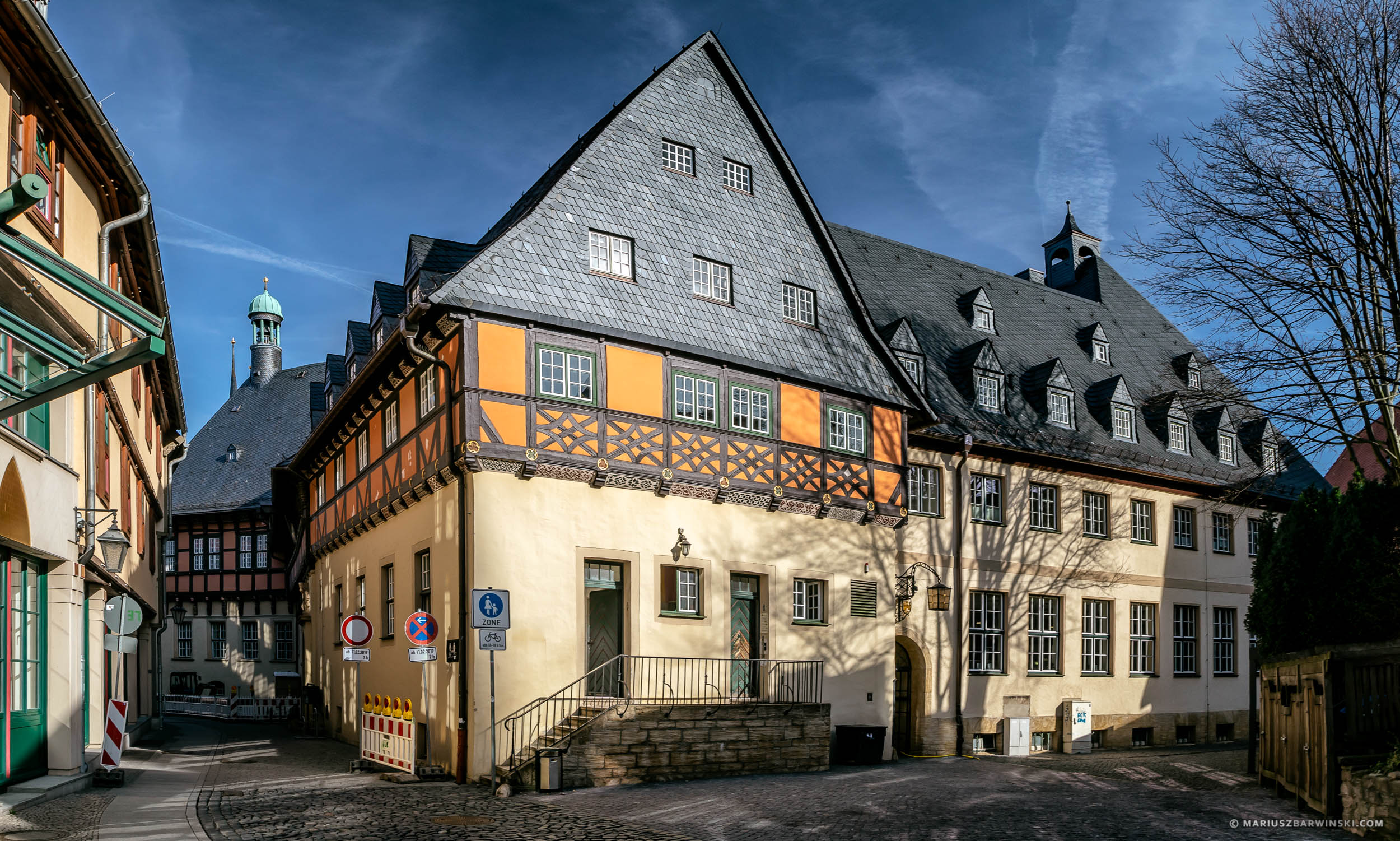 Houses in the market square in Wernigerode. Germany. Zabudowania