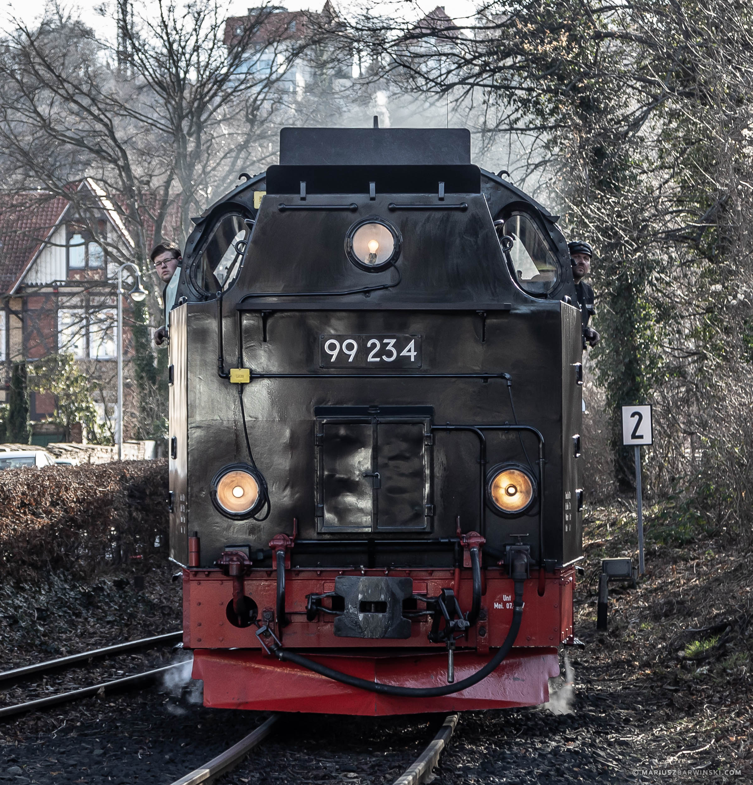 Tourist train to Wernigerode Castle. Germany. Pociąg turystyczn